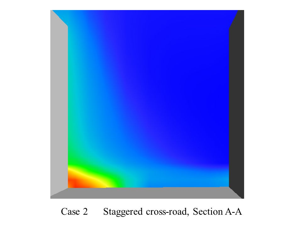 Case 2 Staggered cross-road, Section A-A