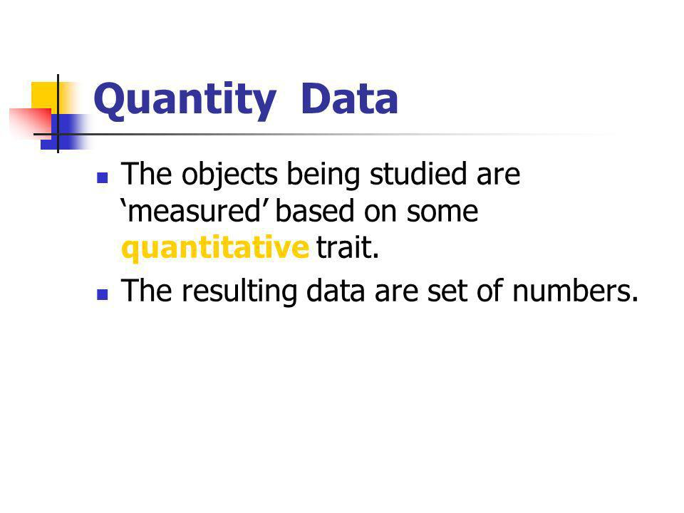 Binary Data A type of categorical data in which there are only two categories.