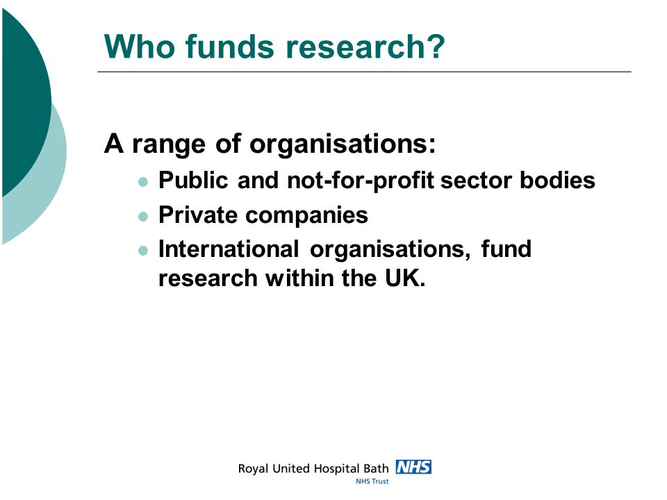 NHS Funding Streams Medical Research Council NIHR Funding Stream WCLRN DH Flexibility and Sustainability Funding