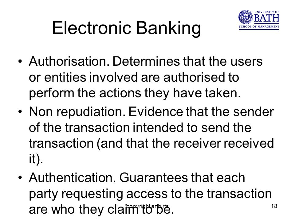 Electronic Banking Authorisation.
