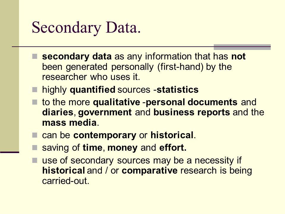 Secondary Data.