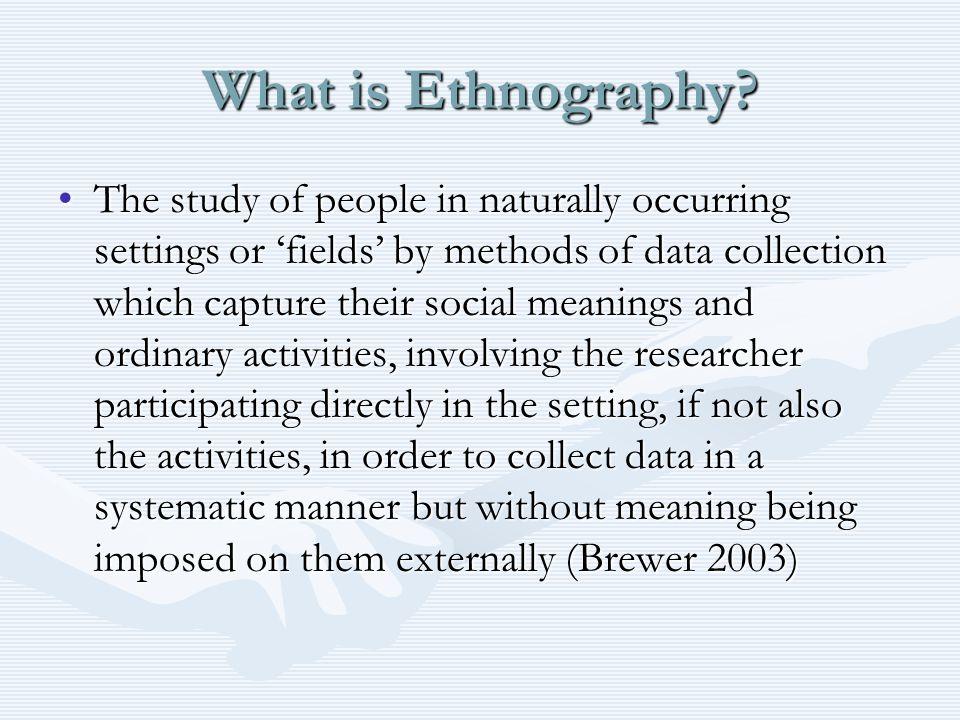 The ethnographic self.