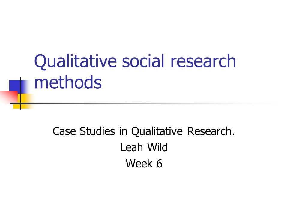 Week 6 overview Sampling in qualitative projects Case study: moneylenders and their customers Case study: researching Subcultures Feedback proposals/ethical approval forms