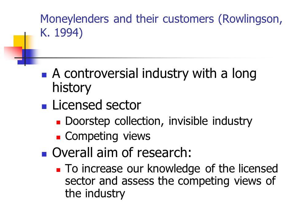 Moneylenders and their customers (Rowlingson, K.