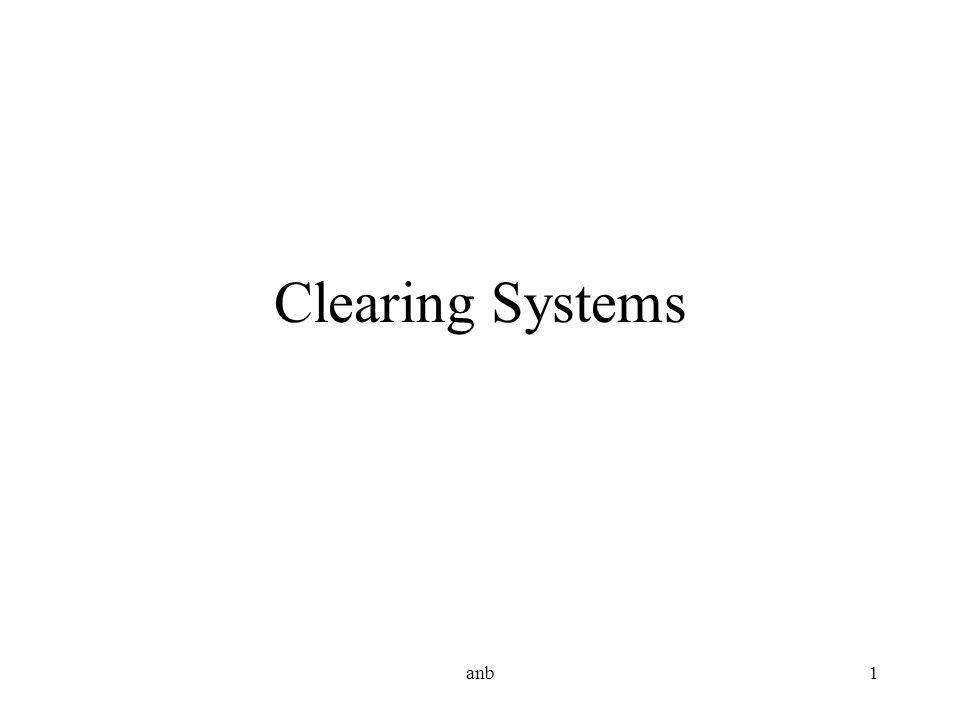 anb1 Clearing Systems