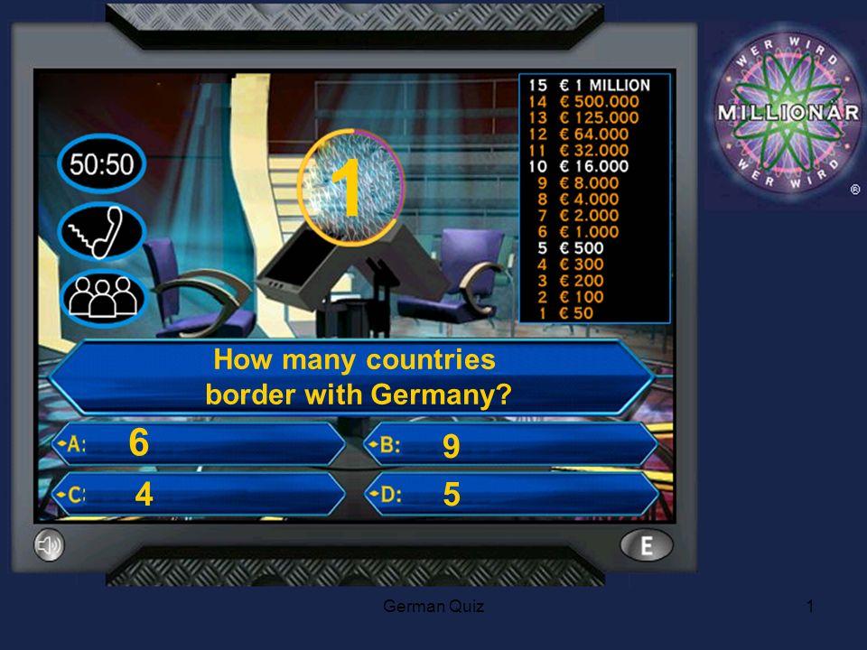German Quiz2 2 How many people speak German as a native Language .
