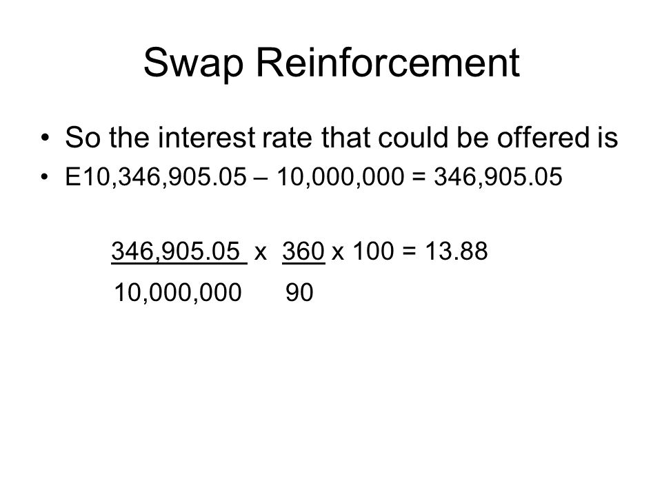 Swap Reinforcement 2 The Rolling Hedge Problem To T180 6 month points 43 45 Note it is a NB/ Base quote So how many points.