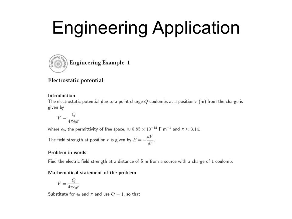Engineering Application
