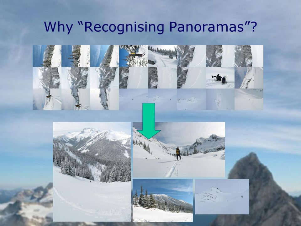 Why Recognising Panoramas