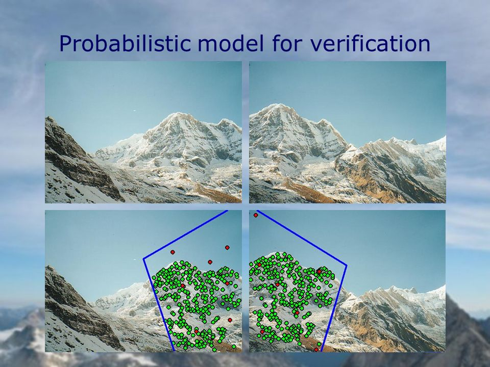 Probabilistic model for verification