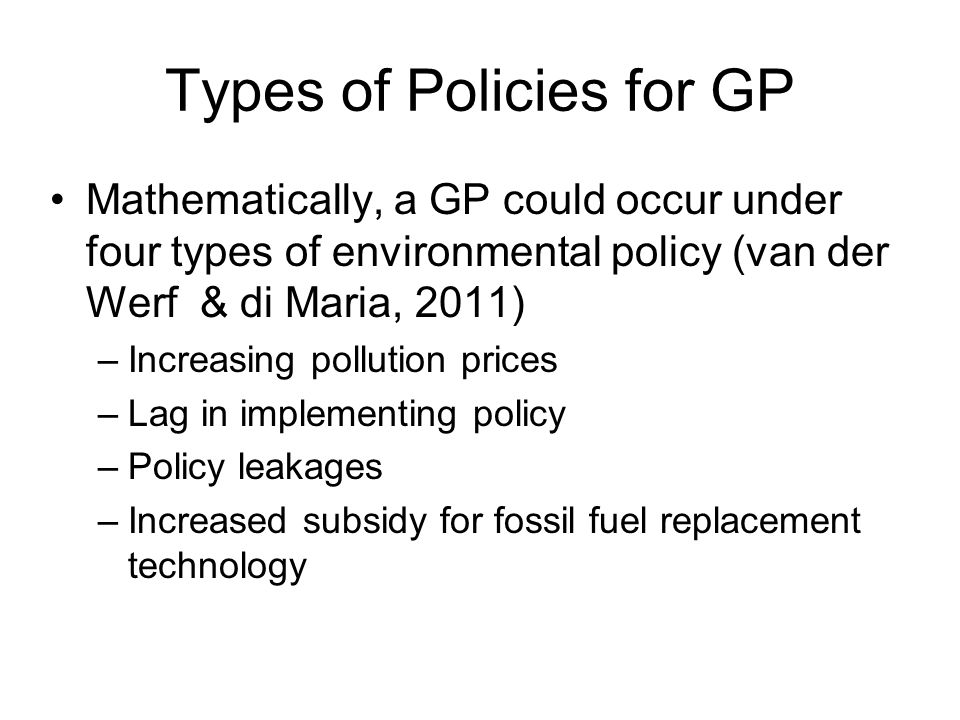 Demand Side The GP discussion assumes that the demand for the fossil fuel is allowed to expand as prices change However, many fossil fuel using industries are limited in how much and how quickly they can respond to price changes
