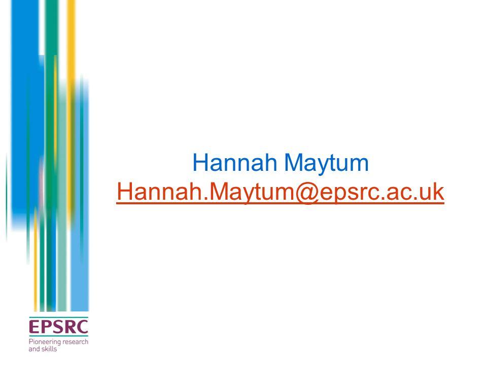 Hannah Maytum Hannah.Maytum@epsrc.ac.uk
