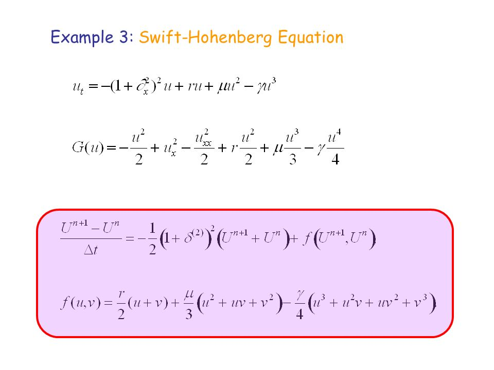 Example 3: Swift-Hohenberg Equation