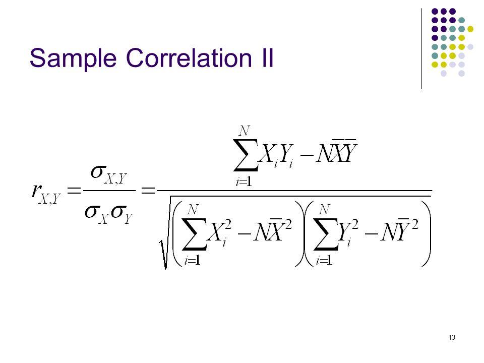 13 Sample Correlation II