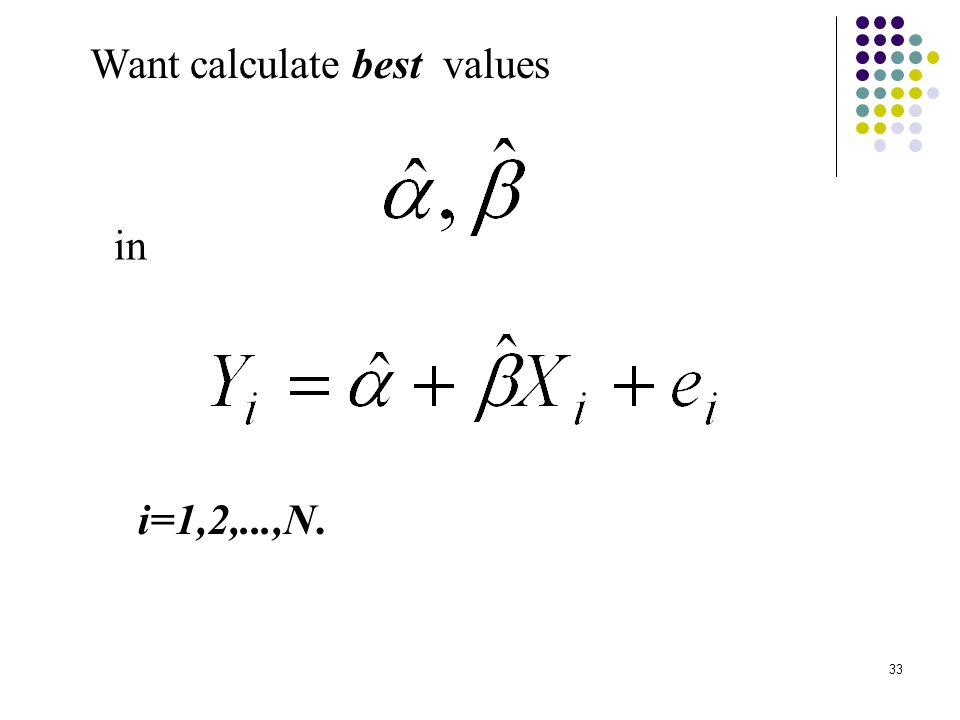 33 Want calculate best values i=1,2,...,N. in