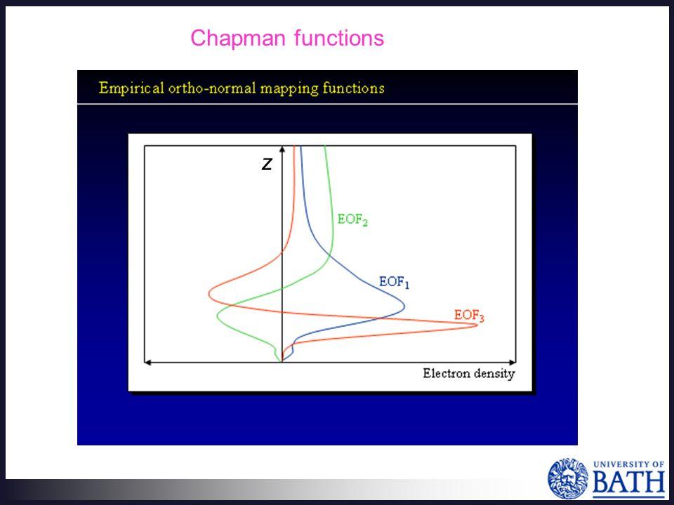 Chapman functions z