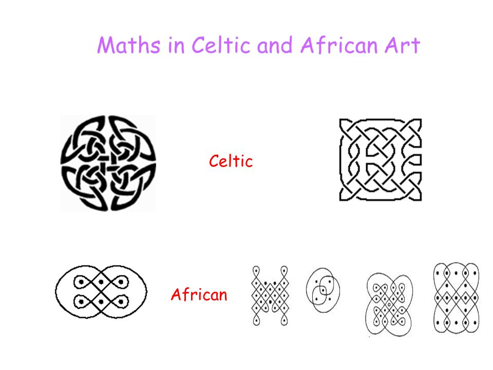 Maths in Celtic and African Art Celtic African