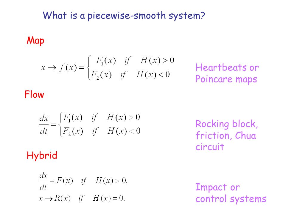 What is a piecewise-smooth system.