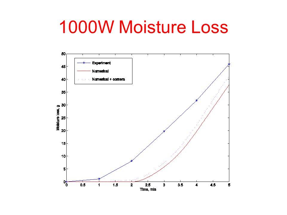 1000W Moisture Loss