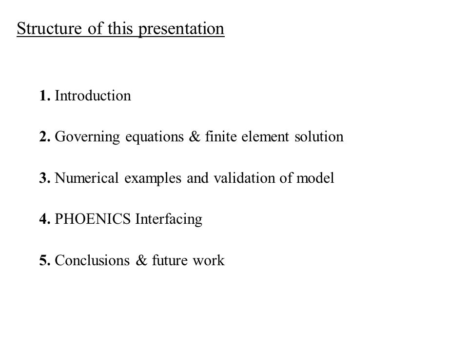 Structure of this presentation 1. Introduction 2.