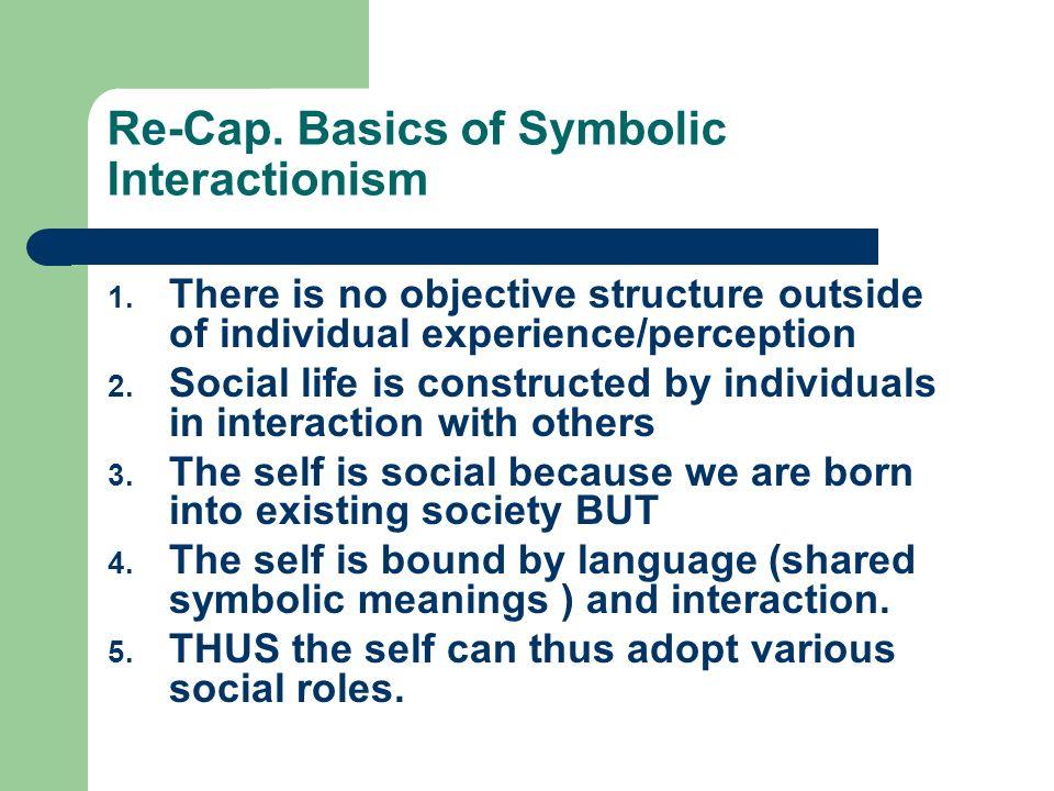 Re-Cap.Basics of Symbolic Interactionism 1.