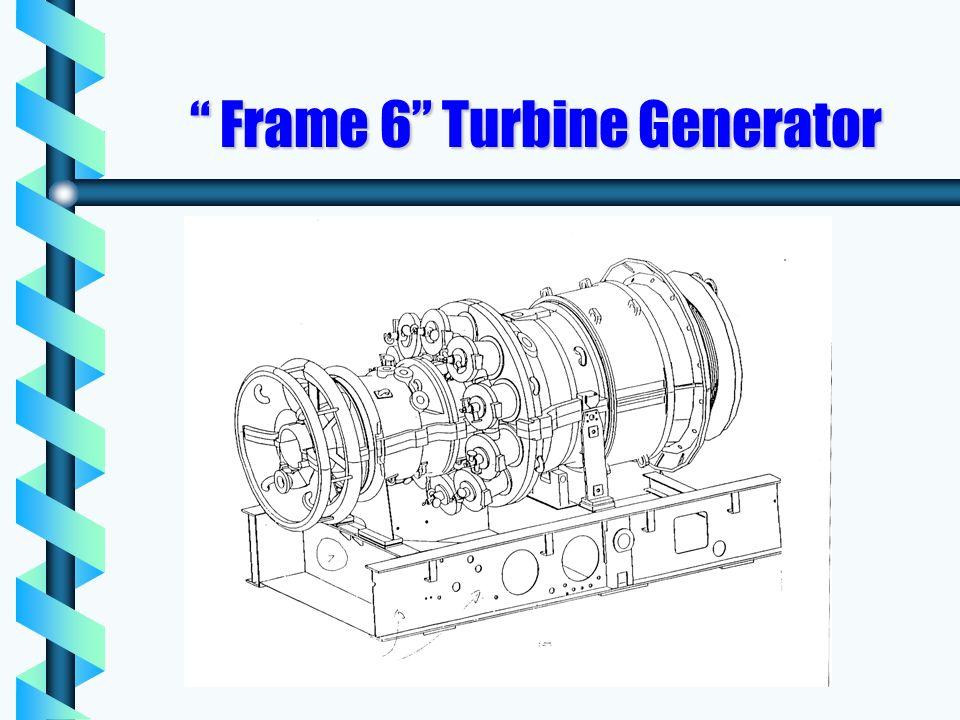 Frame 6 Turbine Generator Frame 6 Turbine Generator