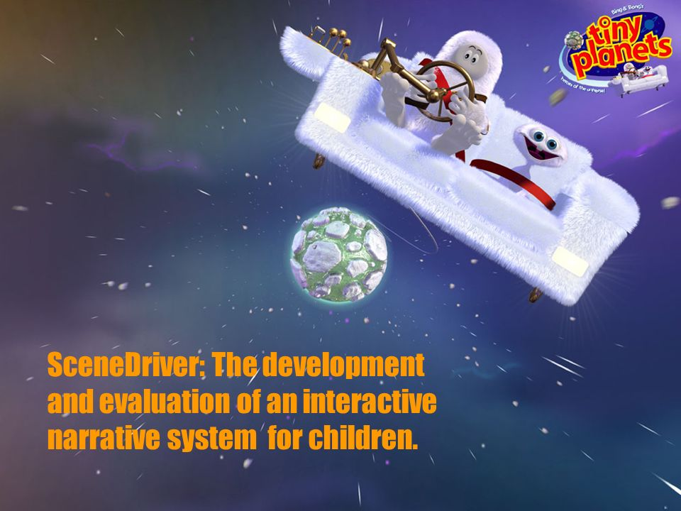 SceneDriver: The development and evaluation of an interactive narrative system for children.