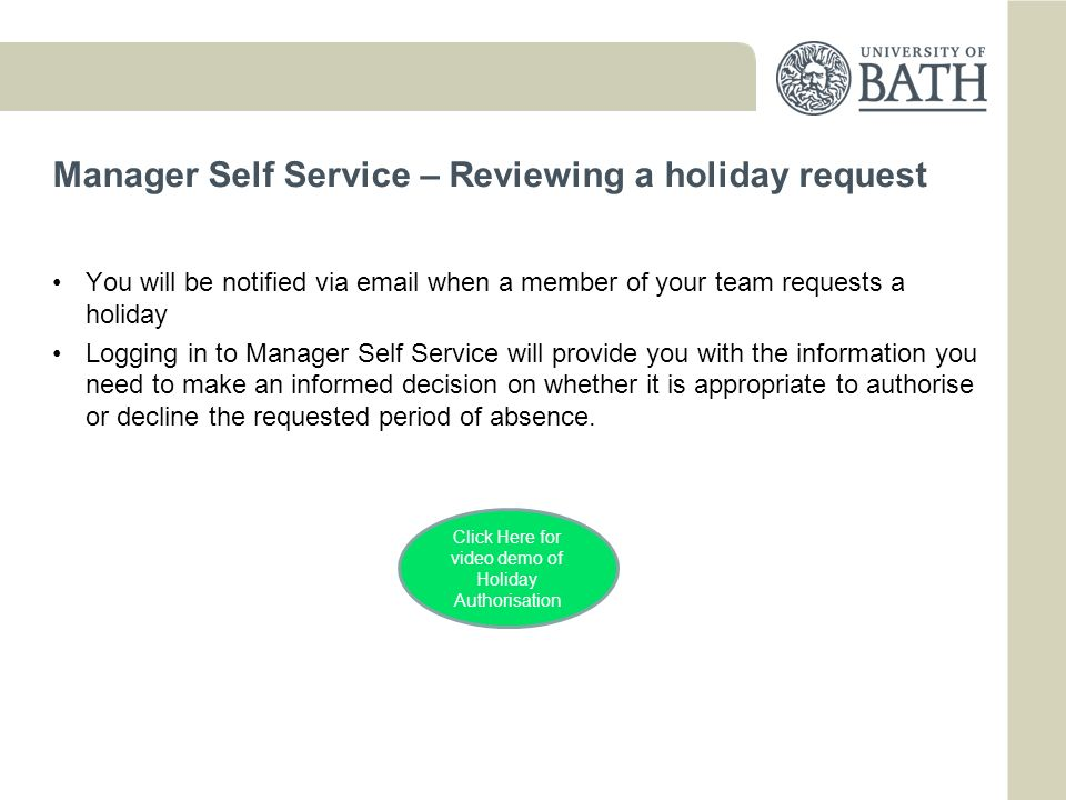 Annual Leave Booking for Academic Staff
