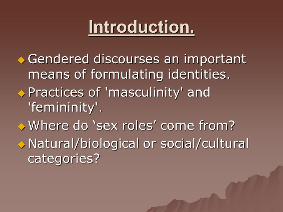 Four main doctrines revisited.How can we apply these to gender.