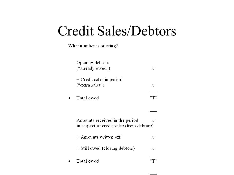 Credit Sales/Debtors