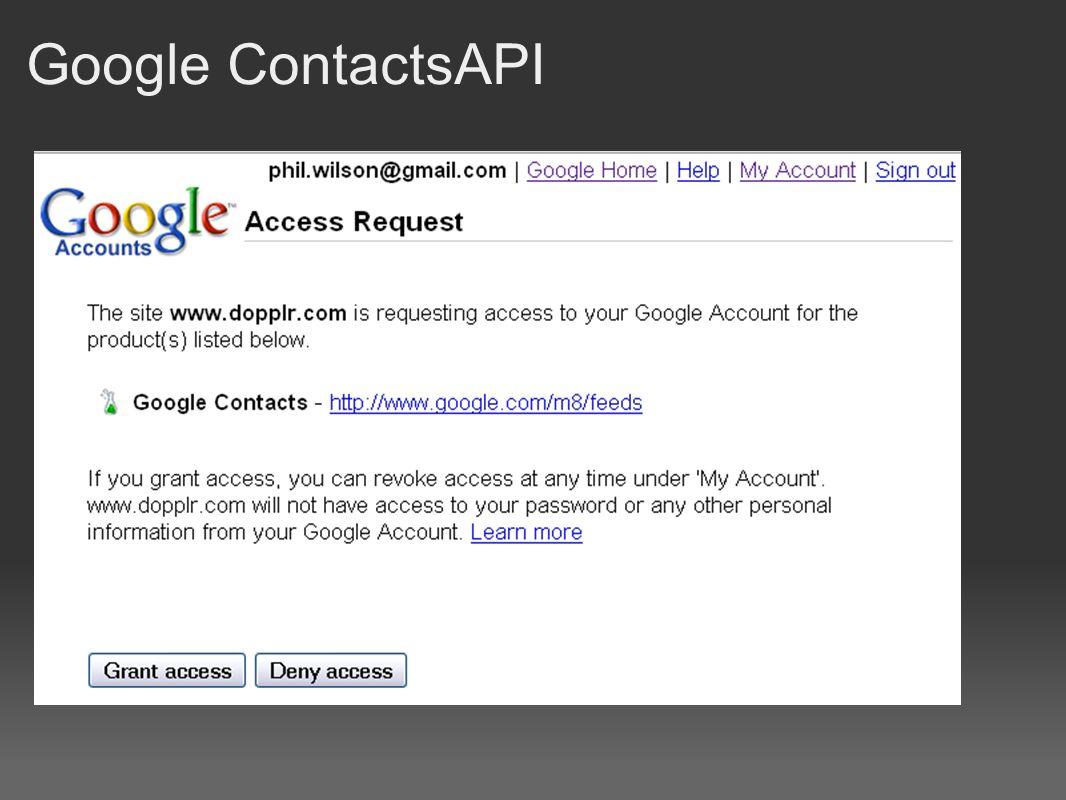 Google ContactsAPI