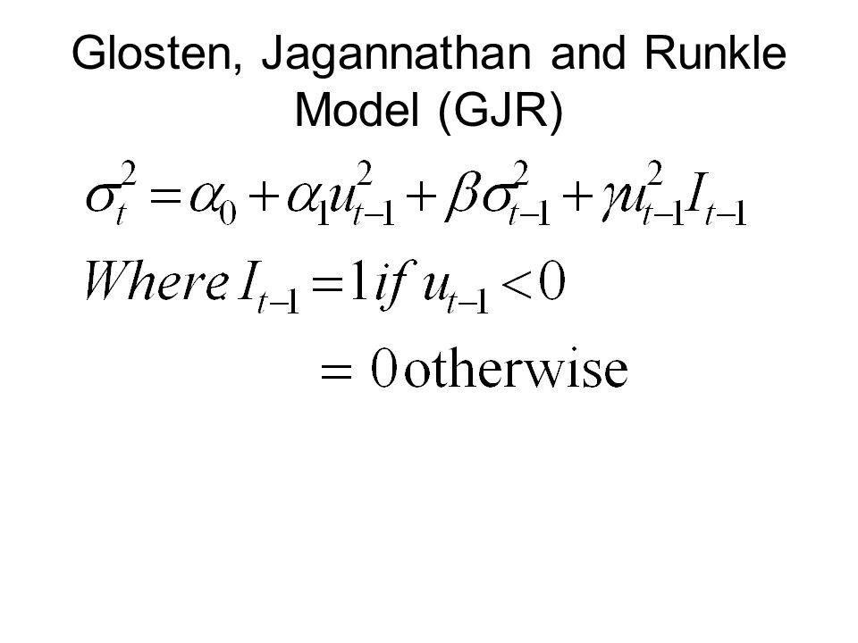 Glosten, Jagannathan and Runkle Model (GJR)