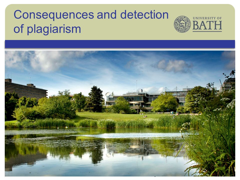 The University ©Andrew Milligan/PA Consequences and detection of plagiarism