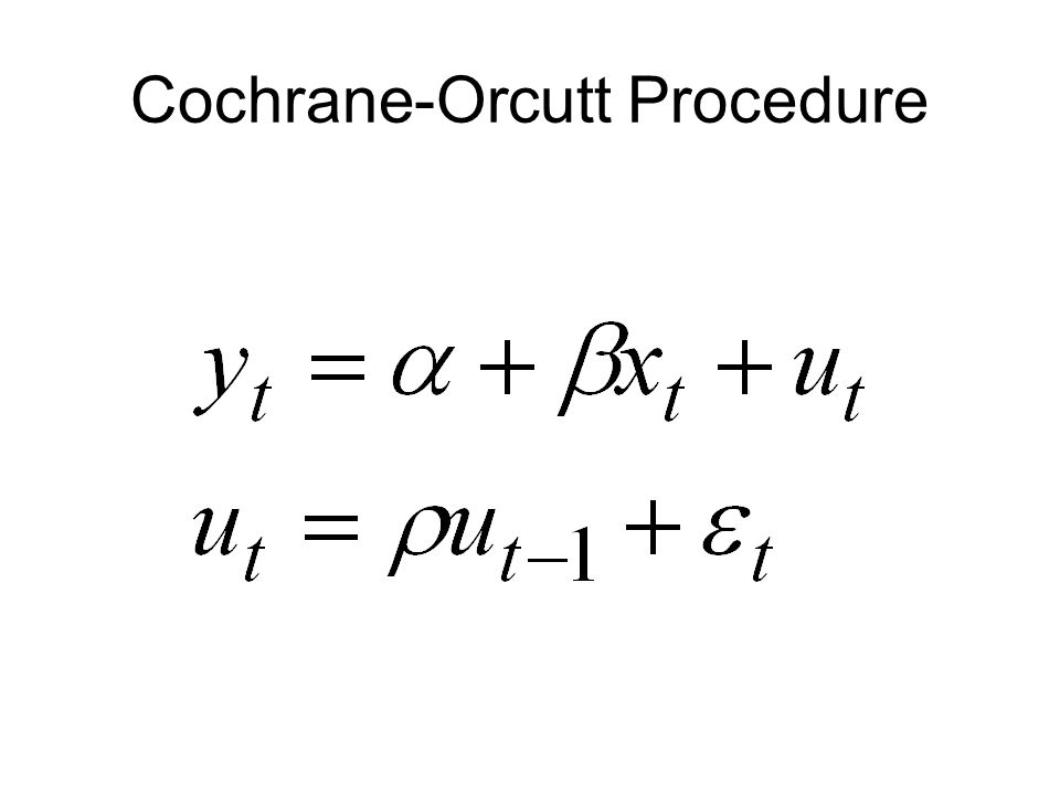 Cochrane-Orcutt Procedure
