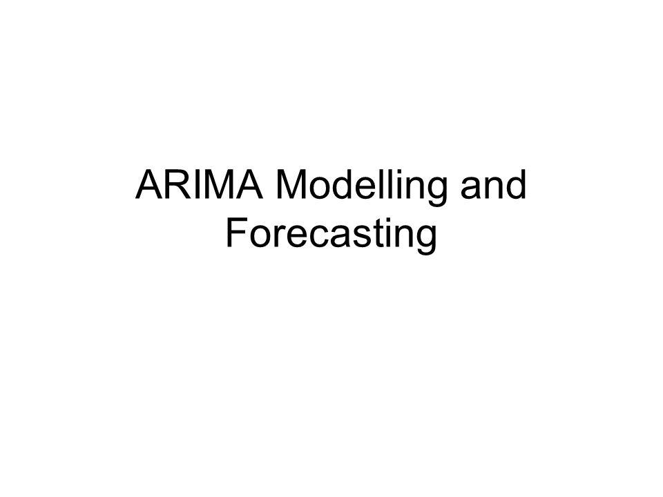 ARIMA Modelling and Forecasting