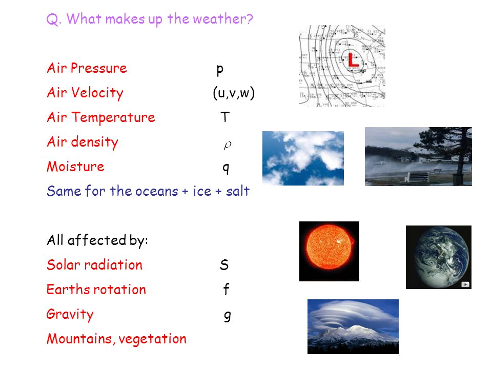 1. Weather forecasting