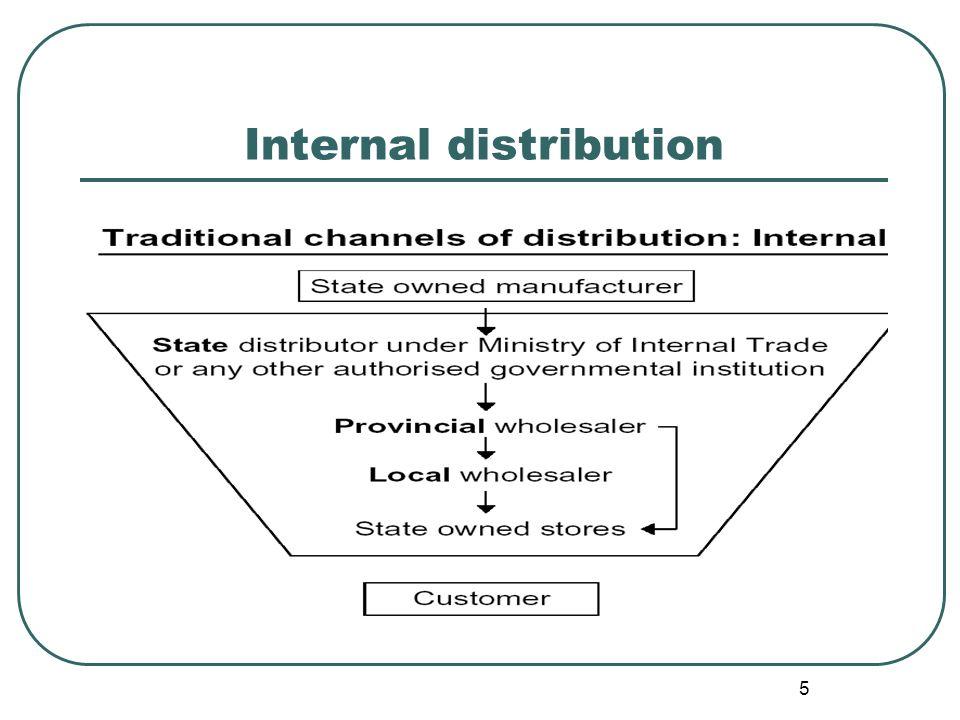 5 Internal distribution