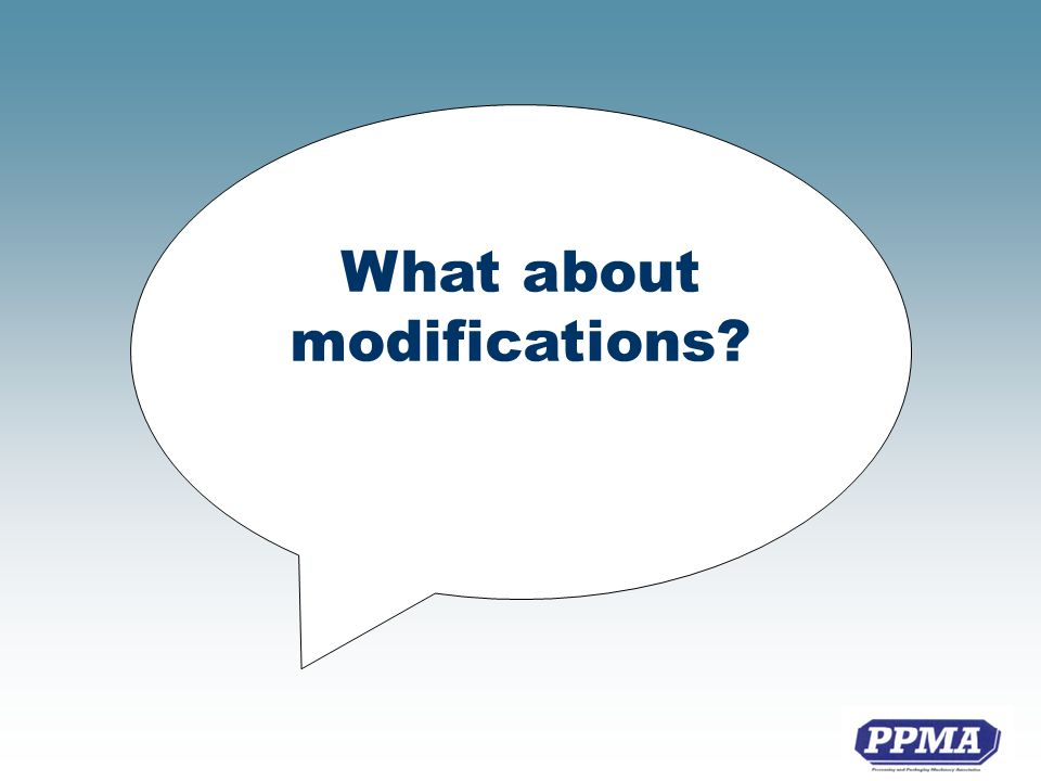 What about modifications?