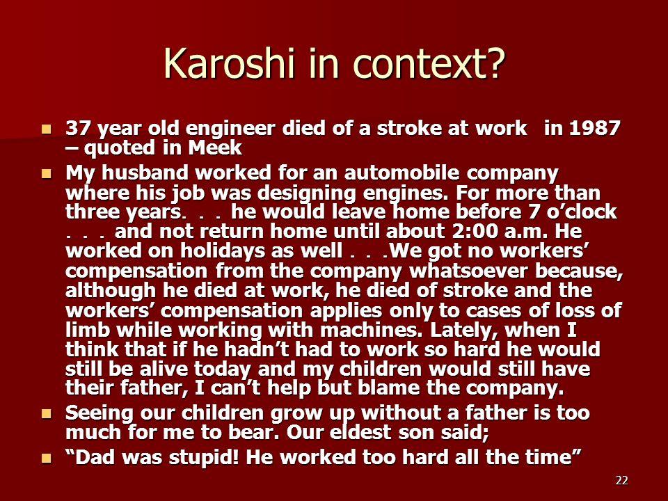 22 Karoshi in context.