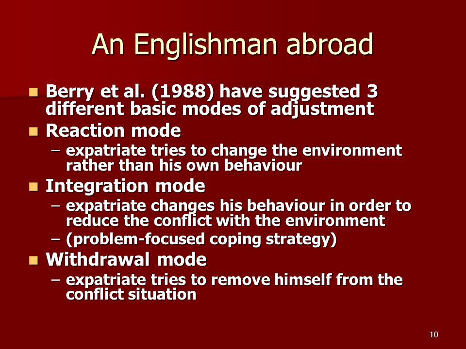 10 An Englishman abroad Berry et al.