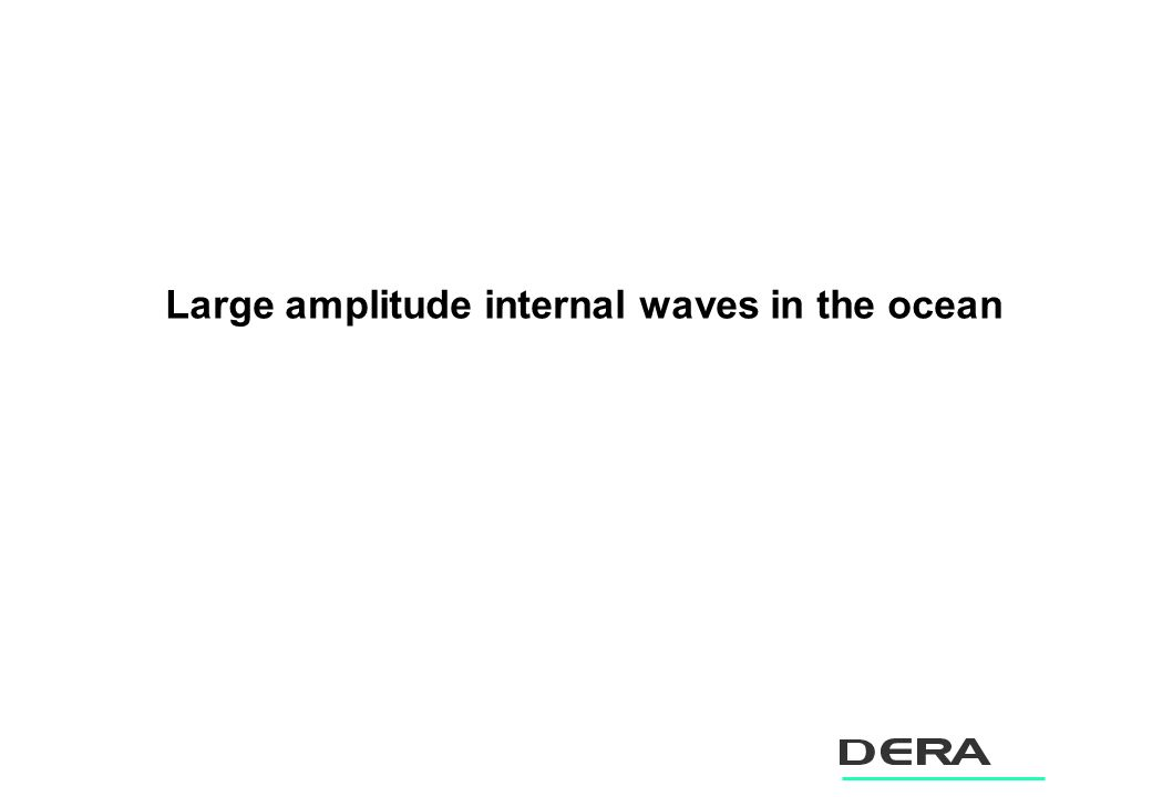 Large amplitude internal waves in the ocean