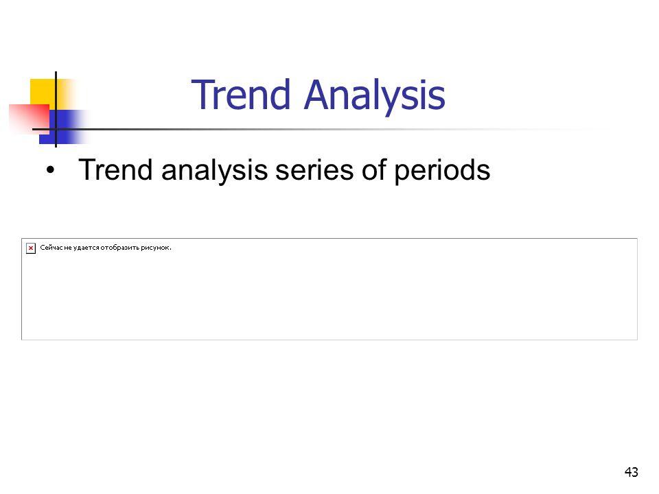 43 Trend Analysis Trend analysis series of periods