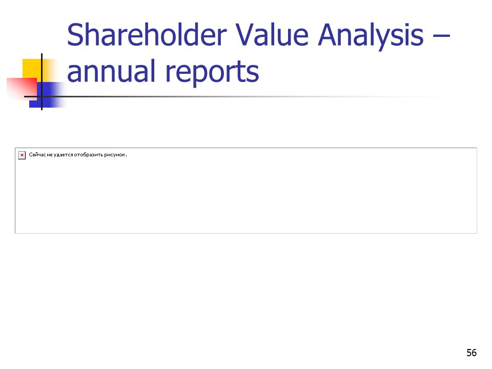 56 Shareholder Value Analysis – annual reports