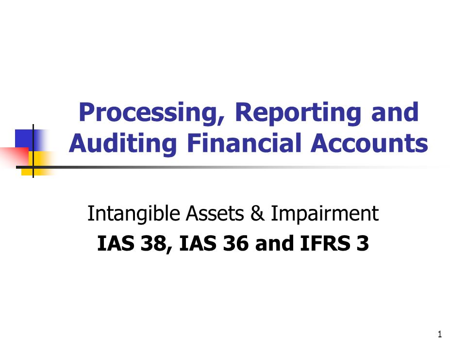 2 Intangible Assets - IAS 38 3 Criteria Identifiable Separable (capable of being separated and sold, transferred, licensed, rented, or exchanged, either individually or as part of a package) or Arises from contractual or other legal rights Control over a resource Means the company should have the power to obtain future economic benefits Usually derived from a legal right Note IFAC definition of intangible includes Human Capital Existence of future economic benefits This is expected over a period of years Intangibles are always Non-Current Assets
