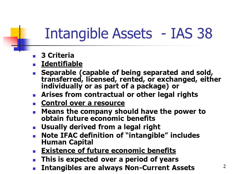 23 Conditions applying to recognition of Goodwill as an intangible Goodwill is recognised by the acquirer as an asset from the acquisition date and is initially measured as the excess of the cost of the business combination over the acquirer s share of the net fair values of the acquiree s identifiable assets, liabilities and contingent liabilities IFRS 3 prohibits the amortisation of goodwill Instead goodwill must be tested for impairment at least annually in accordance with IAS 36 Impairment of Assets Negative goodwill If the acquirer s interest in the net fair value of the acquired identifiable net assets exceeds the cost of the business combination that excess must be recognised immediately in the income statement as a gain