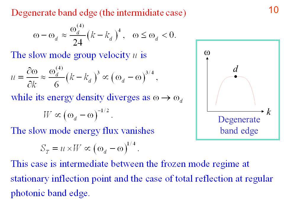 10 k ω d Degenerate band edge
