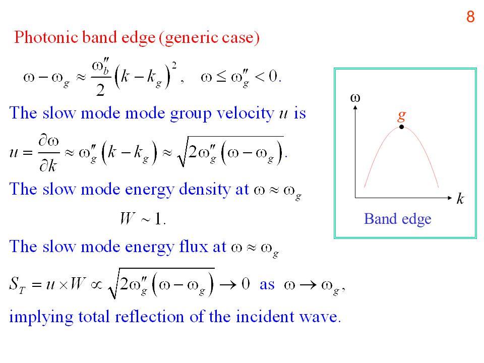 8 k ω g Band edge