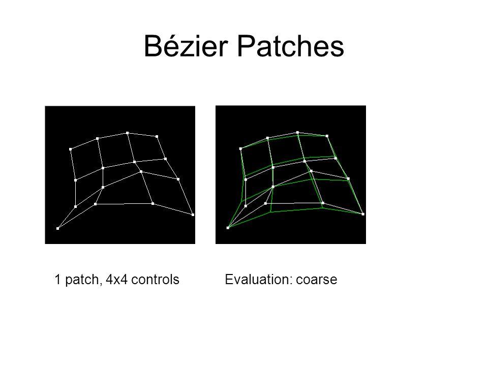 Bézier Patches Evaluation: coarse1 patch, 4x4 controls