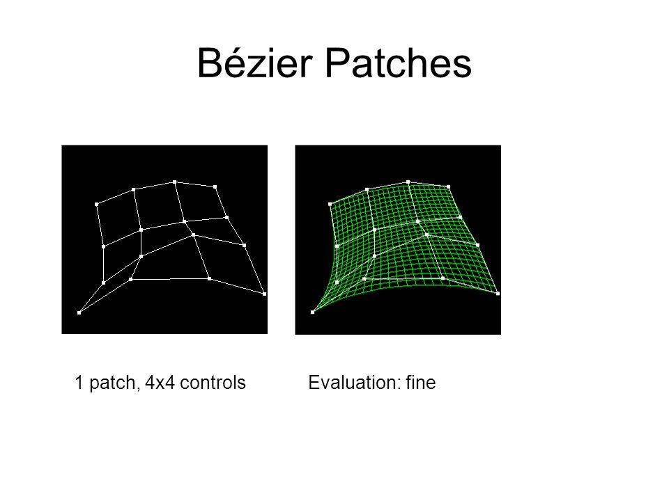 Bézier Patches Evaluation: fine1 patch, 4x4 controls