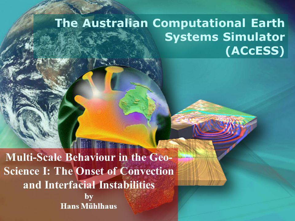 Overview What is Geodynamics Mantle Convection, Spreading, Folding, Landscape Evolution, Earthquakes, Volcanoes The onset of Natural Convection: Linear instability analysis Numerical Simulations Nusselt Number Remarks on Weakly Non-Linear Analysis Galerkin methods